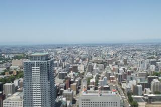 JRタワーからの流し撮り-スーパーおおぞら5号と試1191を札幌駅で