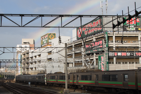 Jアラートの後に虹が出ていた-1つ多いスーパー北斗4号そスーパーとかち1号