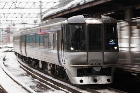 動画-ほぼ札幌駅からの785系Part2 NE-4,NE-5
