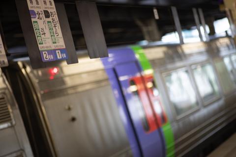 琴似駅に設置の集約臨の乗車位置案内-いつもと変わらないが一番良い