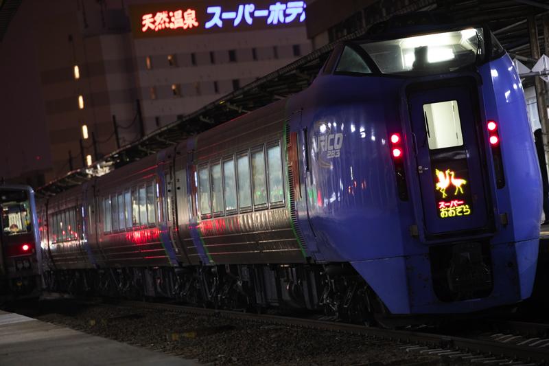 釧路駅でスーパーおおぞらとキハ54のルパンラッピング-2019年4月を振り返る